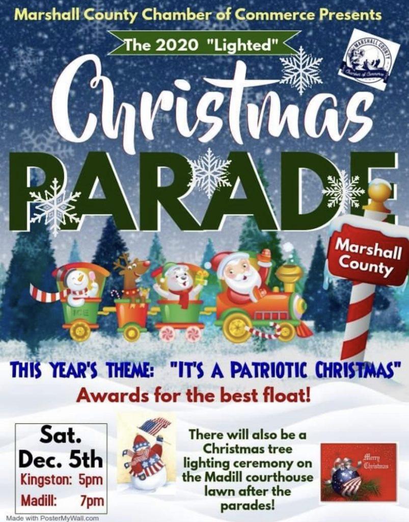Marshall County Christmas Parade 2020 Latest News | Marshall County Chamber Of Commerce